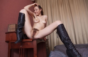 Hairy Pussy And Boots